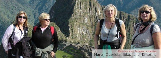 Tour Operator Peru: Hana, Gabriela, Jitka, Jana, Krisztina
