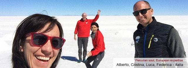 Tour Operator Peru: Alberto, Cristina, Luca, Federica