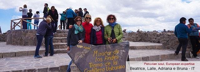 Tour Operator Peru: Beatrice, Lalle, Adriana e Bruna.