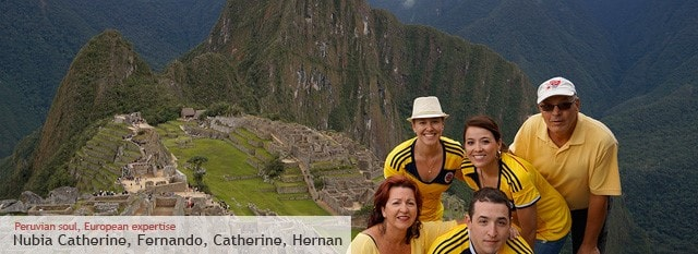 Tour Operator Peru: Nubia Catherine, Fernando, Caterine, Hernan