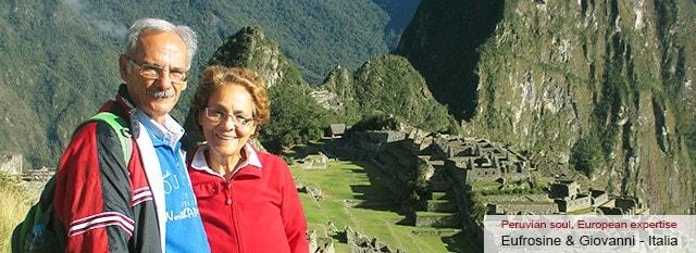 Tour Operator Peru: Gianni Pisu ed Eufrosine Piras