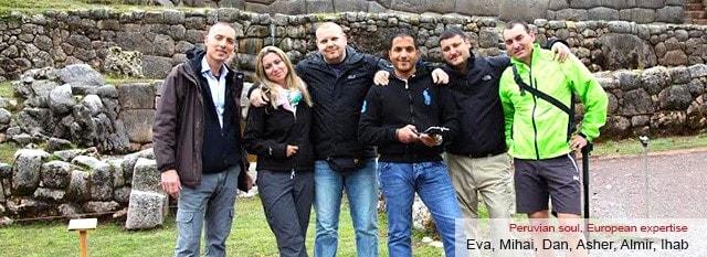 Tour Operator Peru: Eva, Mihai, Dan, Asher, Almir, Ihab