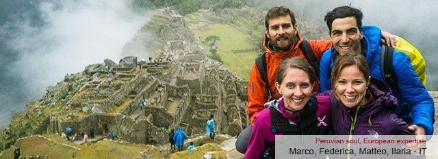 Tour Operator Peru: Marco, Federica, Matteo e Ilaria