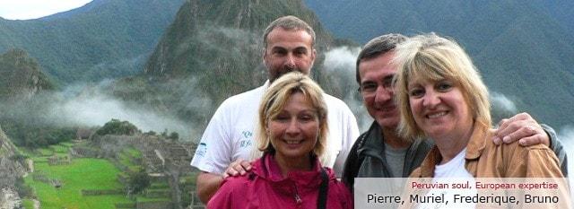 Tour Operator Peru: Pierre, Muriel, Frederique, Bruno