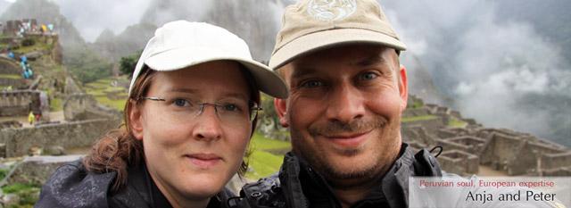 macchu picchu tours : Anja and Peter
