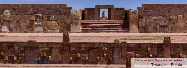 Lima - La Paz - Cusco tour: Cusco: Greetings Bolivia: Tiwanaku ruins