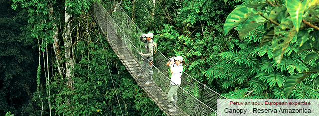 Sandoval Lake - Inkaterra Canopy Walkway & Anaconda Walk