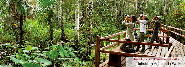 Sandoval Lake - Inkaterra Canopy Walkway & Anaconda Walk